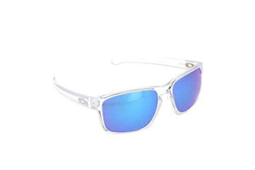 Oakley Herren Sonnenbrille Sliver Weiß, 57