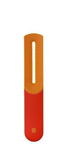 RIG-TIG by Stelton Z00069-2 Say-Cheese Käseschneider und Hobel, Edelstahl, orange, 29.5 x 10 x 1 cm -