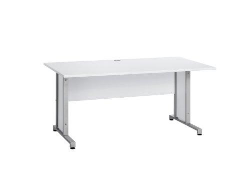 MAJA-Möbel 1221 8839 Schreibtisch, Icy-weiß, Abmessungen BxHxT: 160 x 75 x 80 cm -
