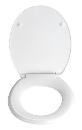 Wenko 19549100 WC-Sitz Stones – rostfreie Edelstahlbefestigung, Kunststoff – Duroplast, 38 x 45 cm, Mehrfarbig