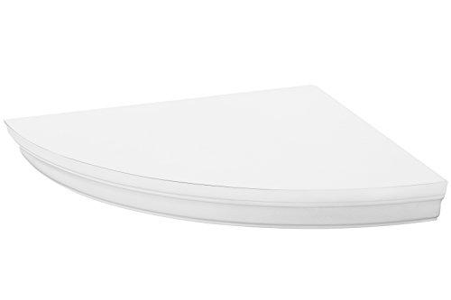 Halter–scaffale angolare salvaspazio rotondo design con non visibili sostegno. 27,9x 27,9cm bianco, montaggio inclusi., funzionale e decorativo.