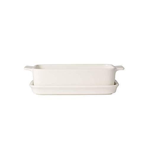 Villeroy & Boch Pasta Passion Lasagne-Form für eine Person, Premium Porzellan, Weiß Form Porzellan