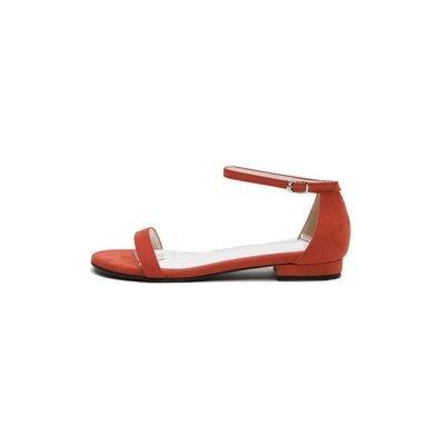 XY&GKFrau Sommer in Rom All-Match Sommer Sandalen Sandalen mit einem Flachbild Original minimalistisch Sandalen, komfortabel und schön 39 red