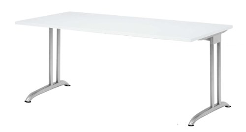"SCHREIBTISCH Büromöbel Computertisch ""BARCELONA"" 180x80cm Weiss 110141/ BS19/W"