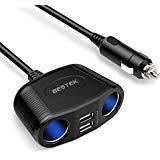 BESTEK car cigarette lighter socket usb car charger Cigarette Lighter adapter dc to