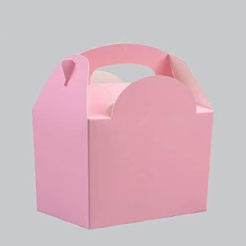 Partygeschirr, Einweg-Geburtstagszubehör, Party-Dekoration, Pink 10 Party Food Boxes.