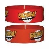 Big Bang Theory Bazinga Logo Gummi Armband
