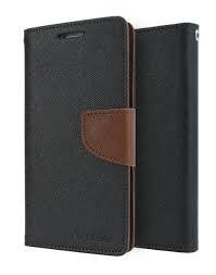 CEDO Stylish Luxury Mercury Magnetic Lock Diary Wallet Style Flip Cover Case for Vivo Y55/Y55L - Black & Brown