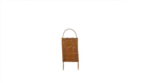 5 x Steck-Paravent Weide mit Steckpfähle im Maß 56 x 90 auf 116 cm (Breite x Höhe) als Sichtschutz geflochten aus Weidenruten/Weide - geölt als Angebots-Set