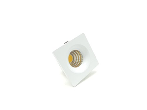 takestop® Mini Foco COB LED empotrable ws6404 3 W 270LM Luz Blanco Cálido 3000 K...