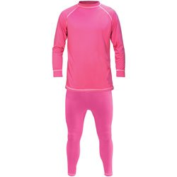 Womens Manbi Supatherm Thermal Set - Top and Bottom Base Layer Set - Fuchsia Pink