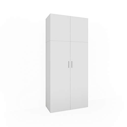 Vicco Schrank Ingo weiß - Schrank 2 Türen Universal Mehrzweckschrank Staubsauger Wirtschafts Hochschrank