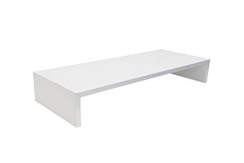 Monitortisch SAUERLAND (TFTHW60) B/T/H 60 x 30 x 12 cm weiß glänzend Bildschirm Ständer Standfuß Monitorständer Schreibtischaufsatz Bildschirmerhöhung Stauraum für Tastatur und Maus Druckerständer (Setzen Home)