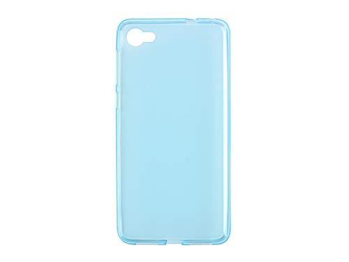 etuo Handyhülle für Alcatel A5 LED - Hülle FLEXmat Case - Blau - Handyhülle Schutzhülle Etui Case Cover Tasche für Handy