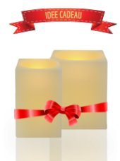 Juego de 2 Velas LED cuadrada 6 x 8 x 10 cm, diseño de llama de cera para Vacillante muy realista.
