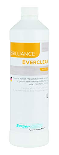 Berger-Seidle Everclear L93 Parkettpflegemittel , wasserbasiert, versiegelte, lackierte Parkettböden Holzboden Dielen (1 Liter matt)