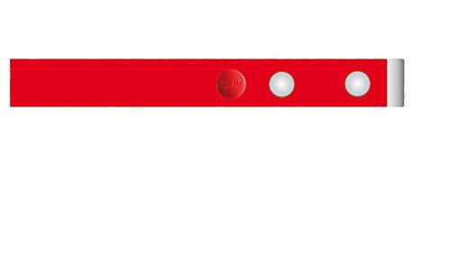 Clip.Ho TWO - Der Gürtel ohne Schnalle mit Metallenden, Elastischer Gürtel rot Gr.116 - 122