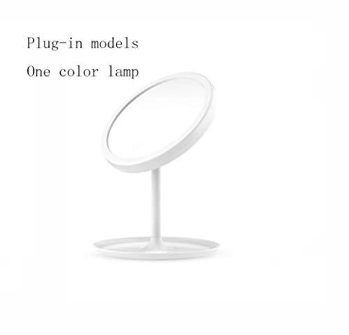 LWLJCFFF LED Pantalla táctil Espejo de Maquillaje Escritorio de Escritorio Espejo portátil Iluminado...