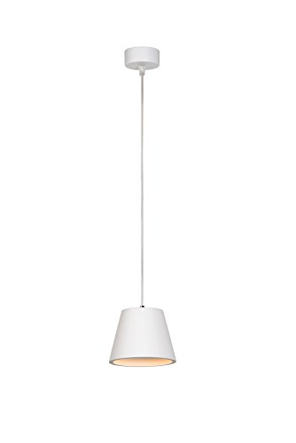 Lucide 35402/10/31 Suspension, Texture, GU10, 35 W, Blanc, 24 x 18 x 18 cm