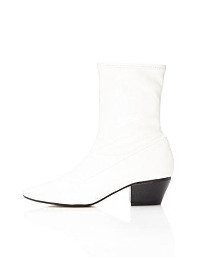 FIND Botas de Puntera para Mujer, Blanco (White), 40 EU