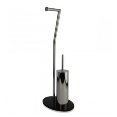 Price comparison product image Möve 40879 Toilet Paper Holder with Glass Stand