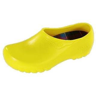 Alsa Jolly Fashion Herren Clogs PU, Gelb, Größe 38 mit normalem Fußbett