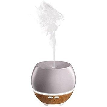 Ellia Homedics, diffuseur aromatique ultrasonique avec huile de lavande, couleur gris
