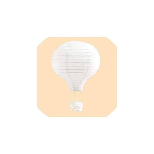 Papierlaterne 1Pc Weiß 10/12/14 / 16Inch Heißluft-Ballon-Papierlaterne, die Laterne Hochzeitsdeko Kinder-Geburtstags-Party-Haus-, White Hot Air Ballon, 10Inch 25Cm