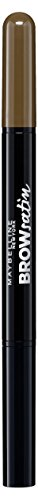 Maybelline Brow Satin Puder-Liner in Medium Brown, 2-in-1 Augenbrauenstift und Augenbrauenpuder,...