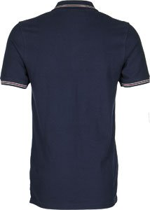 Fila Vintage Herren Matcho gespitzte Logo-Polo-Hemd, Blau Blau