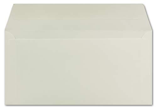 50 DIN Lang Briefumschläge Creme 22,0 x 11,0 cm 90 g/m² Haftklebung Post-Umschläge ohne Fenster ideal für Weihnachten Grußkarten Einladungen von Ihrem Glüxx-Agent