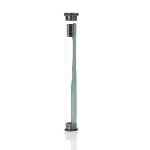 Elviray Weizenstroh Zahnbürste Zahnreinigungsbürste Weiche, schlanke Bambuskohlebürste Erwachsene Kinder Zahnbürste