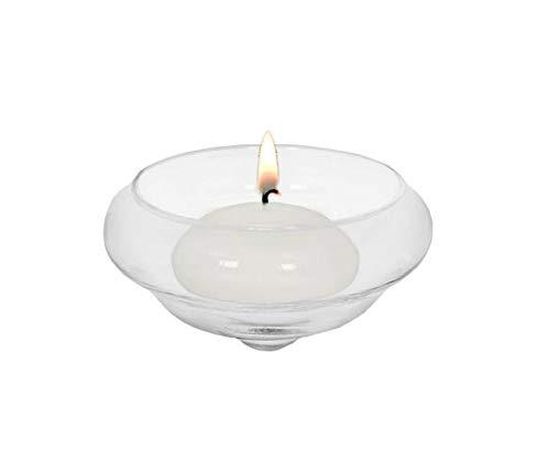 EDZARD Schwimm-Teelichthalter Iris, 4er Satz, mundgeblasenes Glas, Durchmesser 8 cm, Höhe 4 cm