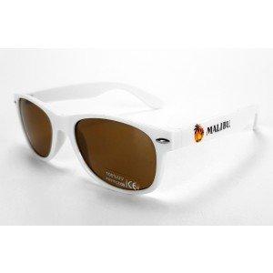 Malibu Sonnenbrille Nerd Party Wayfarer Brille weiß mit vollem UV Schutz -[Enthält Sulfite]