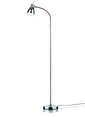 EASYmaxx 06470 LED-Standleuchte Daylight | Tageslichtlampe, Augenschonend, Energiesparend | flexibler Lampenhals, Silber