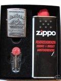zippo-mechero-jim-beam-label-chrome-juego-de-regalo