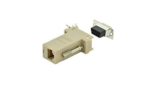 DIGITUS D-Sub 9 zu RJ45 Adapter - Kupplung zur Selbst-Assemblierung - Buchse zu Buchse - RS-232 - RS-485 - PVC-Gehäuse - Rj-45-seriell-adapter