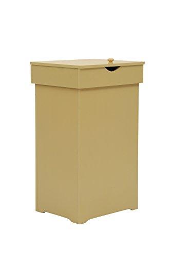 mulsh Trash kann gabage Mülleimer Abfall Behälter 13Gallonen rececling Mülleimer Papierkorb Kommode Schrank Holz Küche Space Saver Abfallkörbe mit Deckel in gelb, 40,6x 33x 67.3cm (BxTxH) (Saver Papierkorb Space)