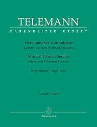 BARENREITER TELEMANN G.P. - HARMONISCHER GOTTESDIENST, KANTATEN AUS DEM WEIHNACHTSFESTKREIS Klassische Noten Sopran, Instrumente