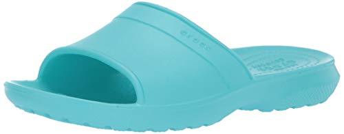 crocs Unisex-Kinder Classic Slide K Sandalen, Blau (Pool 40m), 37/38 EU (Crocs Kids 5)