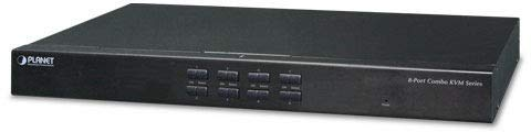 Planet 8-Port Combo KVM Switch: Up to 64 Computers, On Screen, KVM-210-08 (Up to 64 Computers, On Screen Display (OSD), Quick View Setting (QVS), Hotkey, Stackable, 1U Rack-Mount,)