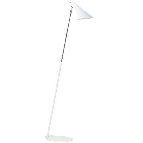 SSC-LUXon® Design Stehlampe skandinavisch weiß - höhenverstellbar 74-129 cm inklusive LED Leuchtmittel E14 OSRAM 6W warmweiß - Design-stehlampe