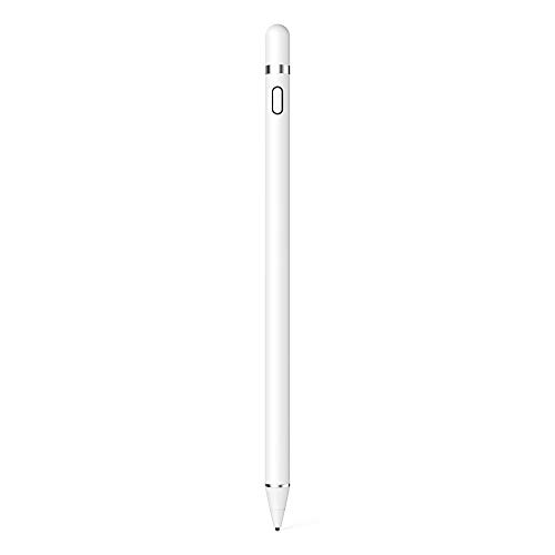 KECOW Stylus Stift,Kompatibel mit Apple Stift Touchscreen Stift Kapazitive wiederaufladbare Stifte mit 1,5 mm ultrafeinen Spitzen Kompatibel mit iPads/Tablets/iPhones/Samsung/Lenovo mit Zwei Kappen