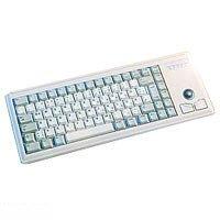 Cherry G84-4400 LUBEU-0 Tastatur USB 84 Tasten IBM MF US + Trackball Hellgrau