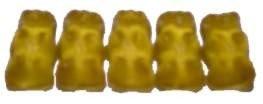 Gelbe Gummibären von Haribo Geschmacksrichtung Zitrone - 100g
