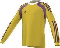 Adidas, maglietta da portiere calcio bambino onore 14, giallo (triyel/tripur/white), 152 cm