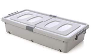 KLDDGF Bettboden Aufbewahrungsbox Rechteckiges Bett Unter Der Kleidung Kunststoff Aufbewahrungsbox Home Artefakt Flache Quilt Aufbewahrungsbox Mit Rädern Grau 79 cm * 39 cm * 16 cm