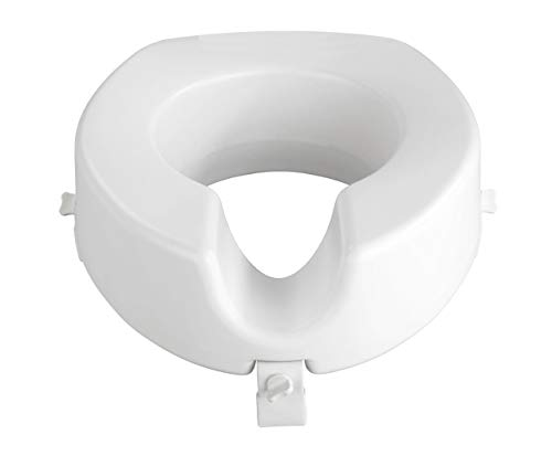 Wenko WC Sitz-Erhöhung Secura - 150 kg Tragkraft, 41,5 x 17 x 44 cm, weiß