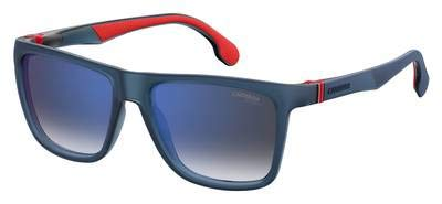 Carrera Mirrored Square Unisex Sunglasses - (CARRERA 5047/S IPQ 56KM|56|Blue Color Lens)