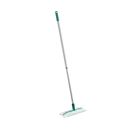 Leifheit Clean and Away - Mopa de pisos non-eléctrica, color verde y gris